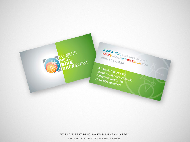 Worlds best bike racks logo and business card cryst design worlds best bike racks business card colourmoves