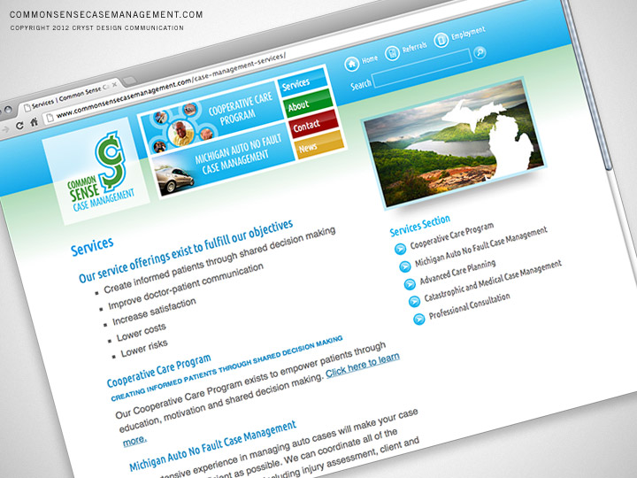 Common Sense Case Management Website